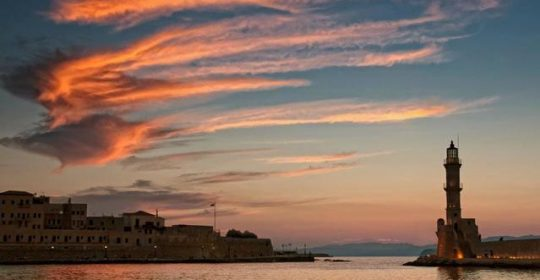 sunset-chania